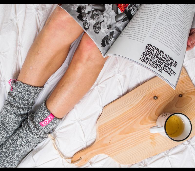 Soxs Women's Socks - Grey/Bubble Gum Half High