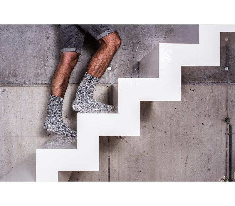 Soxs Heren Sokken - Grey/Jet Black Knee High