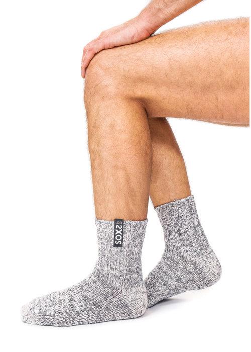 Soxs Soxs Men's Socks - Grey/Jet Black Low