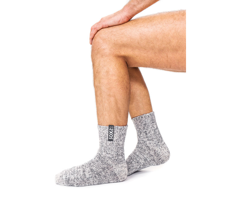 Soxs Men's Socks - Grey/Jet Black Low
