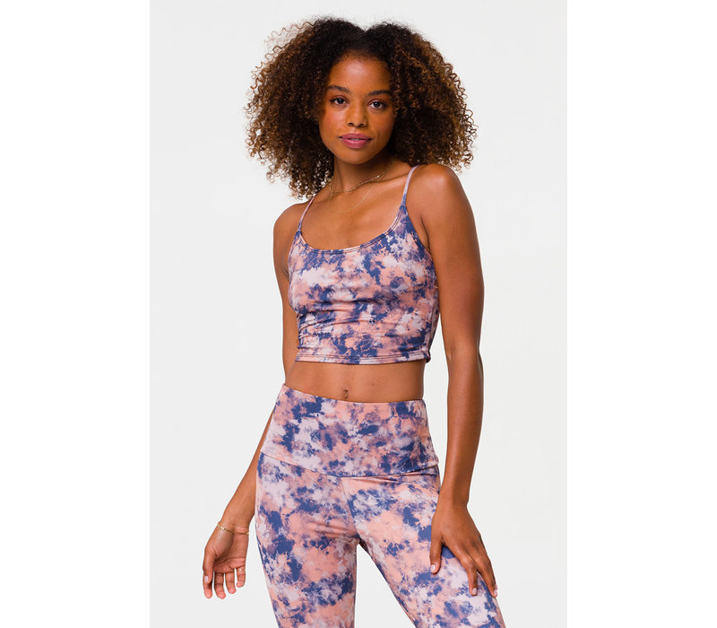 Onzie Cami Belle Crop - Earth Tie Dye
