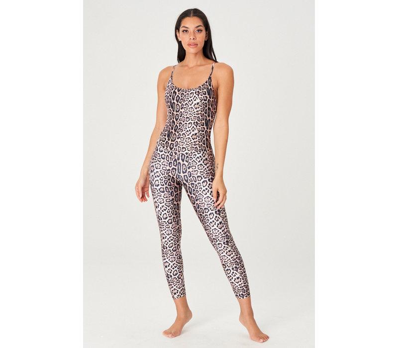 Onzie Long Rib Leotard - Leopard