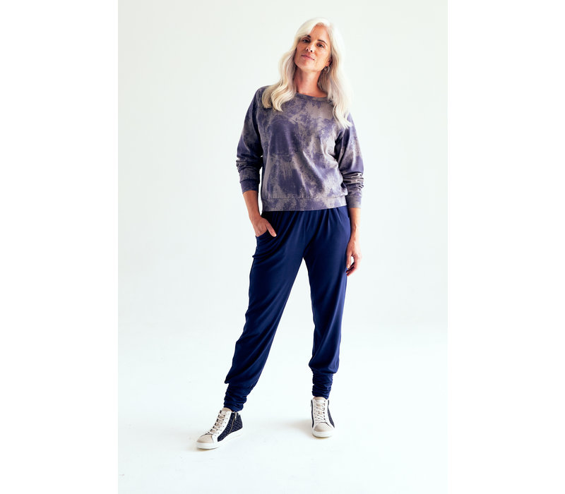 Asquith Long Harem Pants - Midnight