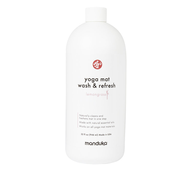 Manduka Yoga Mat Wash & Refresh 946ml - Lemongrass