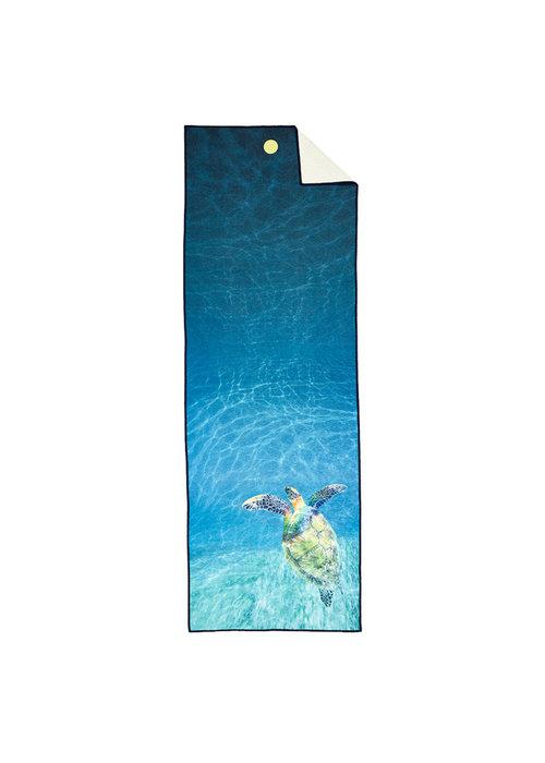 Yogitoes Yogitoes Yoga Handdoek 180cm 61cm - Turtle Sea