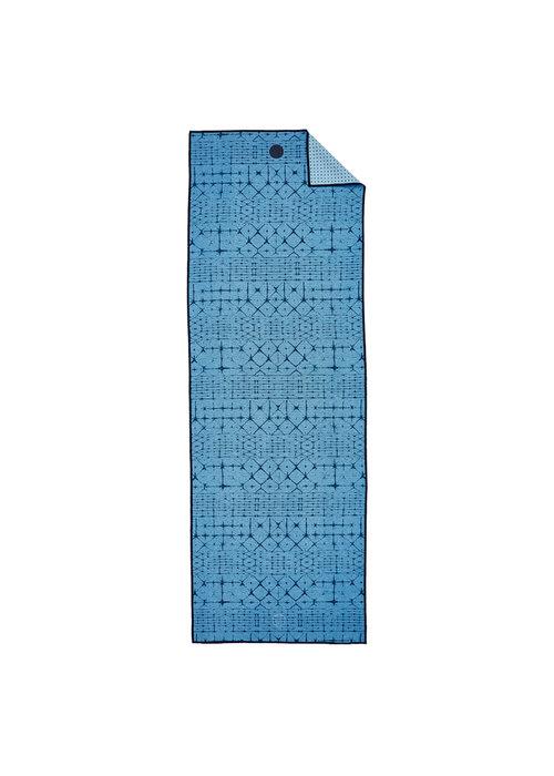 Yogitoes Yogitoes Yoga Handdoek 180cm 61cm - Star Dye Clear Blue