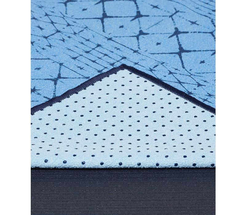 Yogitoes Yoga Towel 172cm 61cm - Star Dye Clear Blue