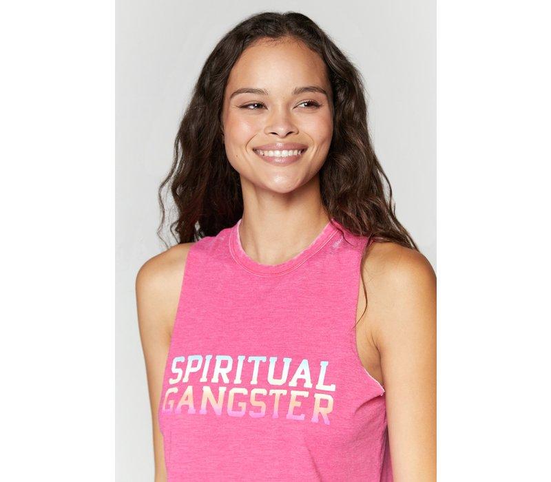 Spiritual Gangster Varsity Paradise Tank - Raspberry