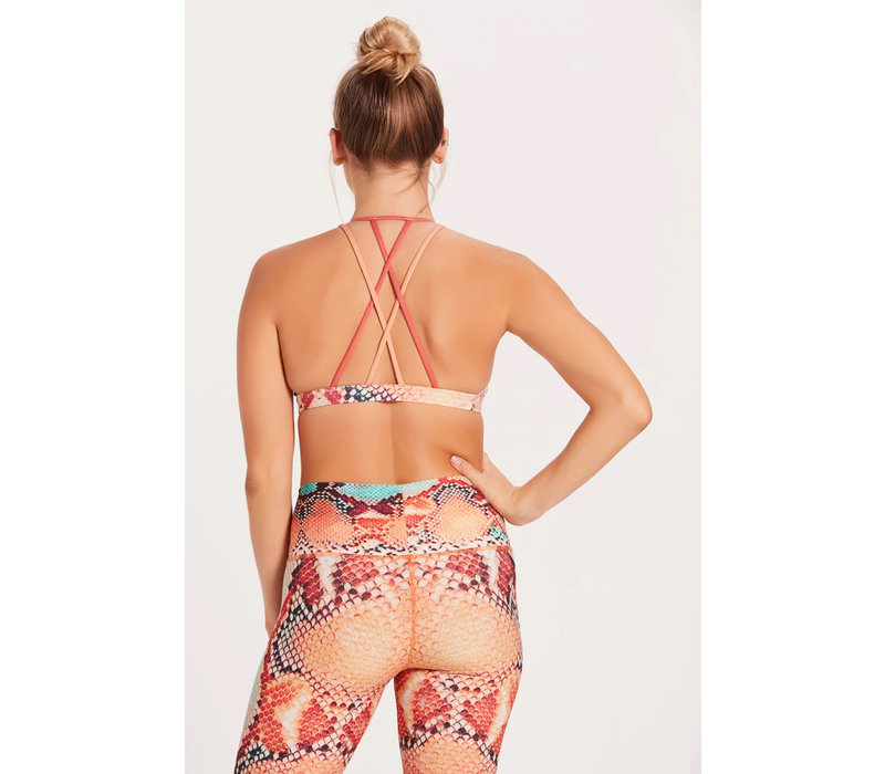 Niyama Sol Dream Catcher Bra - Anaconda Coral