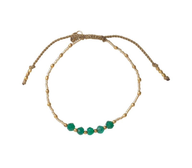 A Beautiful Story Family Gold Bracelet - Aventurine