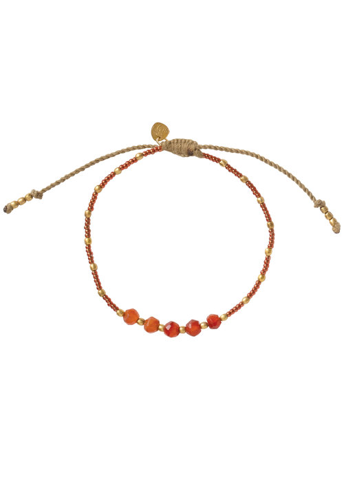 A Beautiful Story A Beautiful Story Family Gold Bracelet - Carnelian