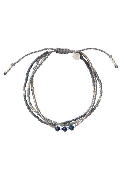 A Beautiful Story A Beautiful Story Gentle Silber Armband - Lapis Lazuli