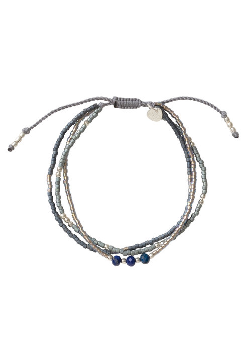 A Beautiful Story A Beautiful Story Gentle Zilveren Armband - Lapis Lazuli