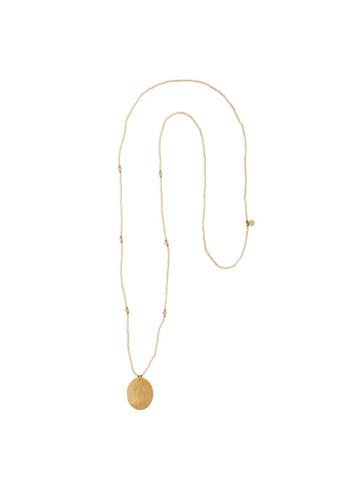 A Beautiful Story A Beautiful Story Swing Goulden Necklace - Citrine