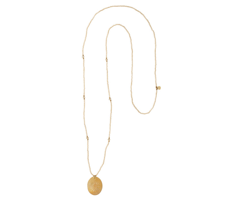A Beautiful Story Swing Goulden Necklace - Citrine