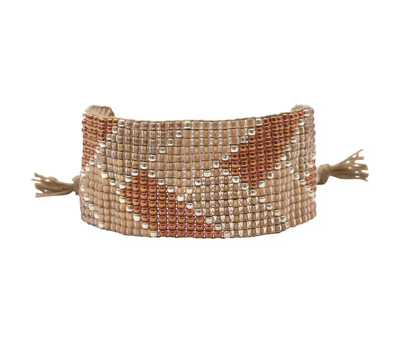 A Beautiful Story Willow Gold Bracelet - Smokey quartz