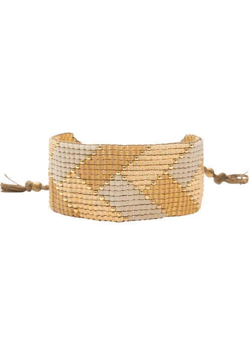 A Beautiful Story A Beautiful Story Willow Gouden Armband - Citrien