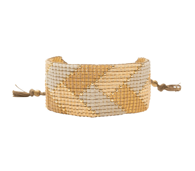 A Beautiful Story Willow Gouden Armband - Citrien