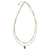 A Beautiful Story Swing Golden Necklace - Aventurine