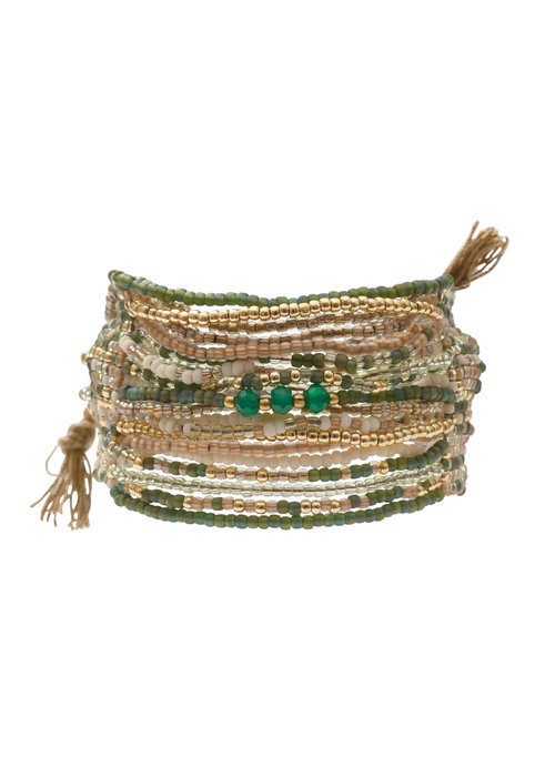 A Beautiful Story A Beautiful Story Brilliant Gold Bracelet - Aventurine