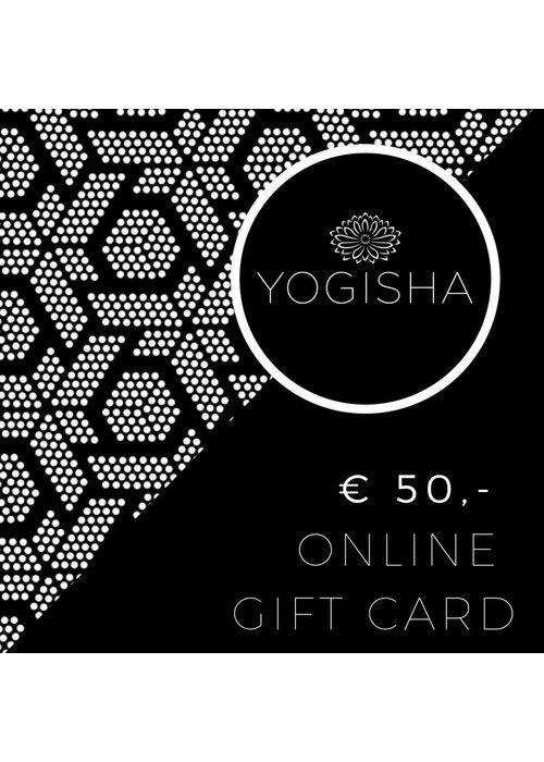 Yogisha Online Cadeaubon 50 euro