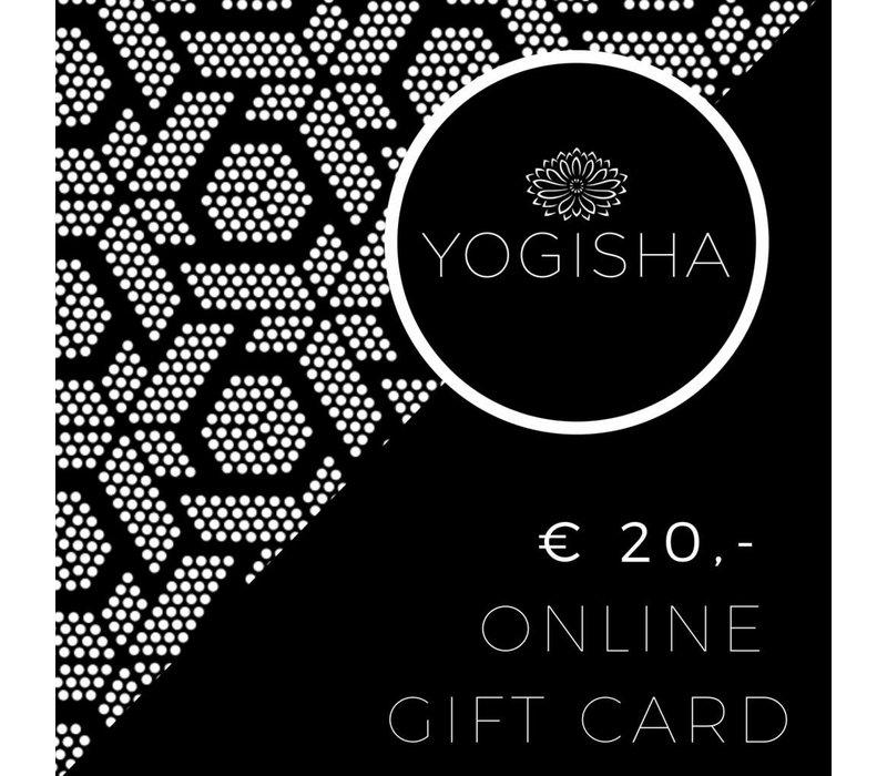 Yogisha Geschenkkarte 20 Euro