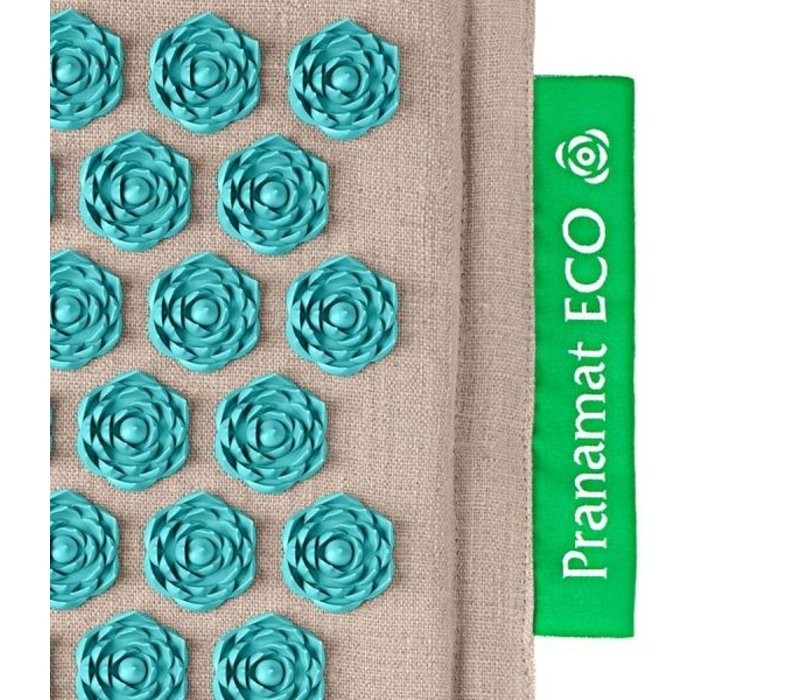 Set Pranamat Eco + PranaPillow Naturel/Turquoise