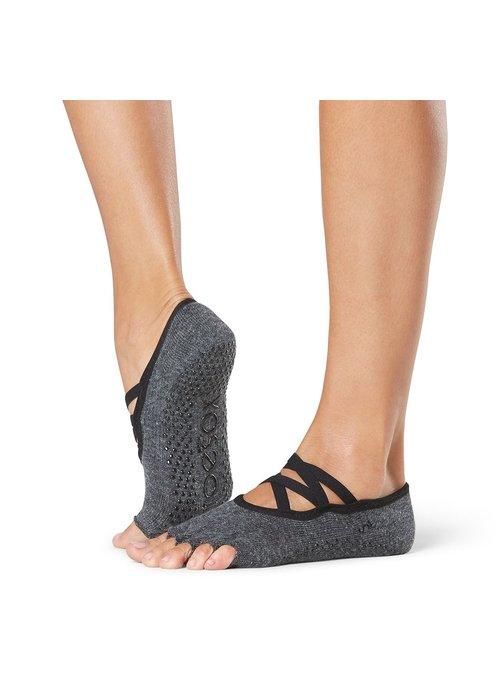 Toesox Toesox Yoga Sokken Elle Open Tenen - Pansy