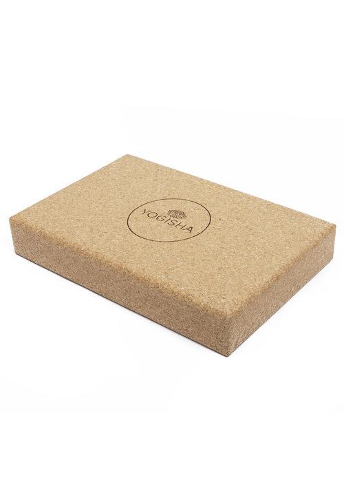 Yogisha Yogisha Yoga Block Flat Cork