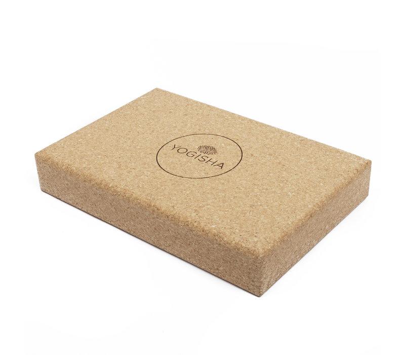 Yogisha Yoga Block Flat Cork
