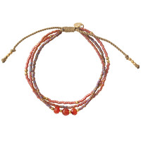 A Beautiful Story Gentle Gouden Armband - Carneool