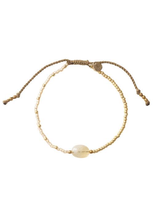 A Beautiful Story A Beautiful Story Ruby Golden Bracelet - Citrine