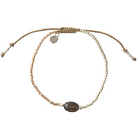 A Beautiful Story Ruby Silver Bracelet - Smokey quartz