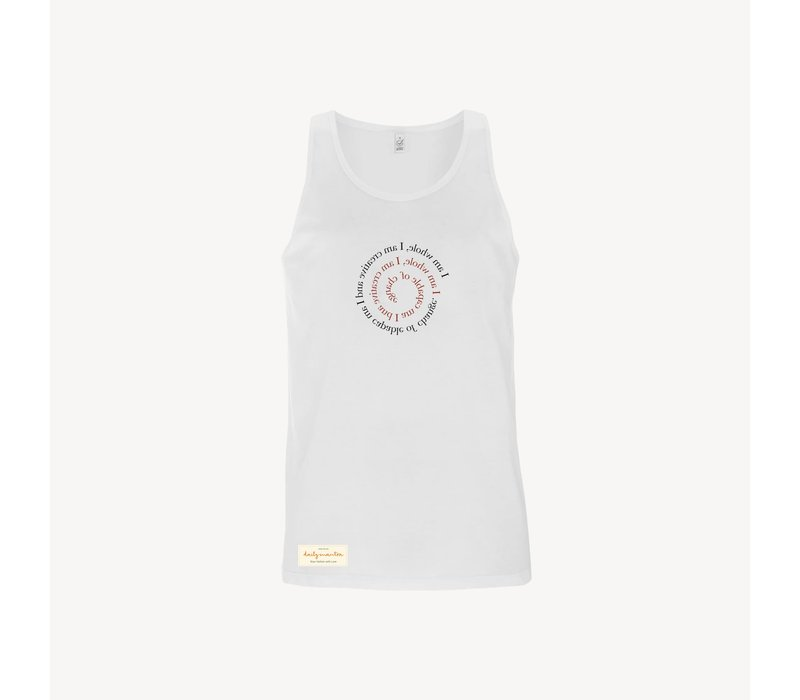 Daily Mantra I Am Whole Tank Top - White