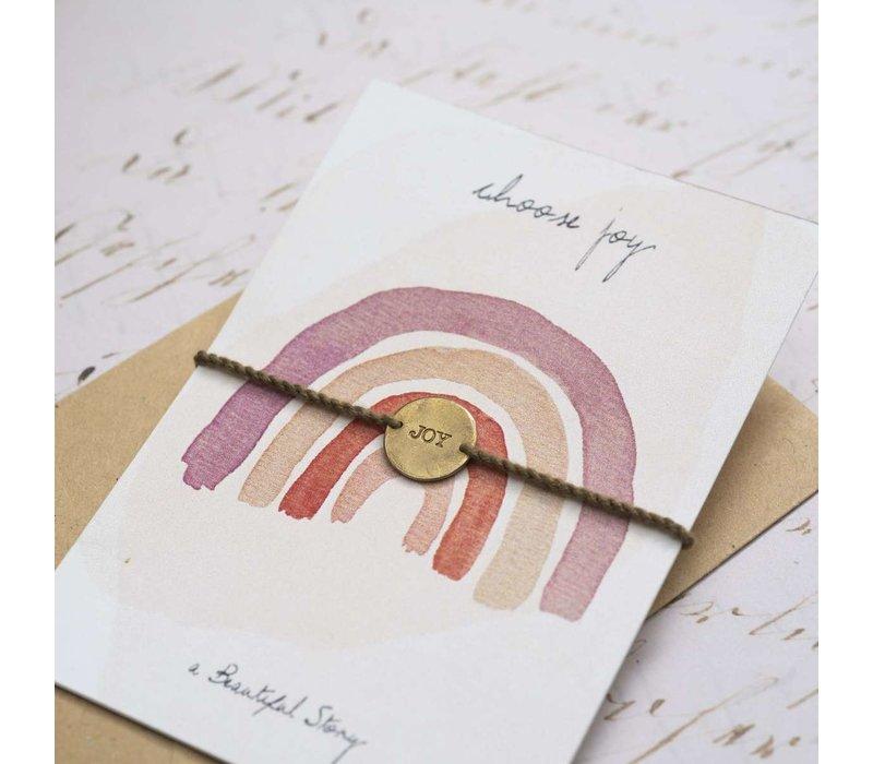 A Beautiful Story Jewelry Post Card  - Choose Joy