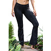Funky Simplicity Funky Simplicity Flared Legging - Black Green Snake