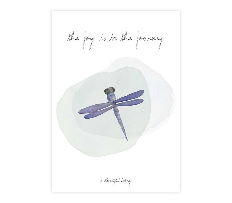 A Beautiful Story Greeting Card - Dragonfly watercolour