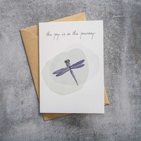 A Beautiful Story Karte - Dragonfly watercolour