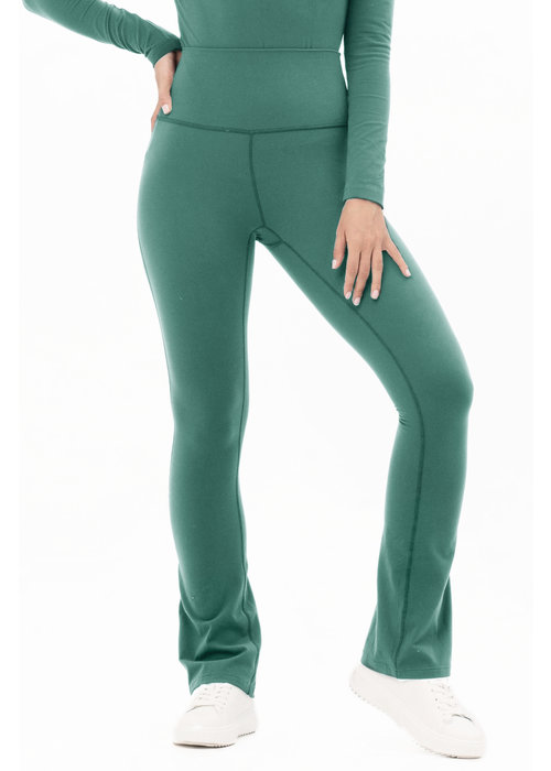 House Of Gravity House of Gravity Flared Tights - Green Jade