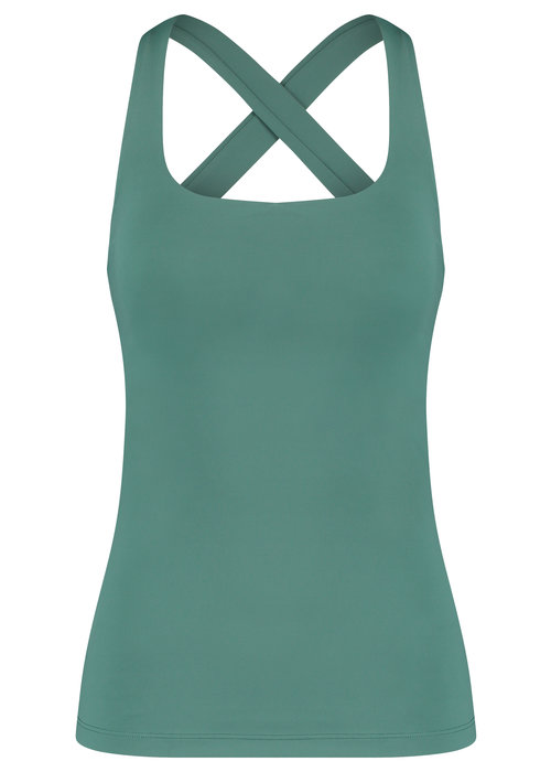 House Of Gravity House of Gravity Crossover Tank Top - Green Jade