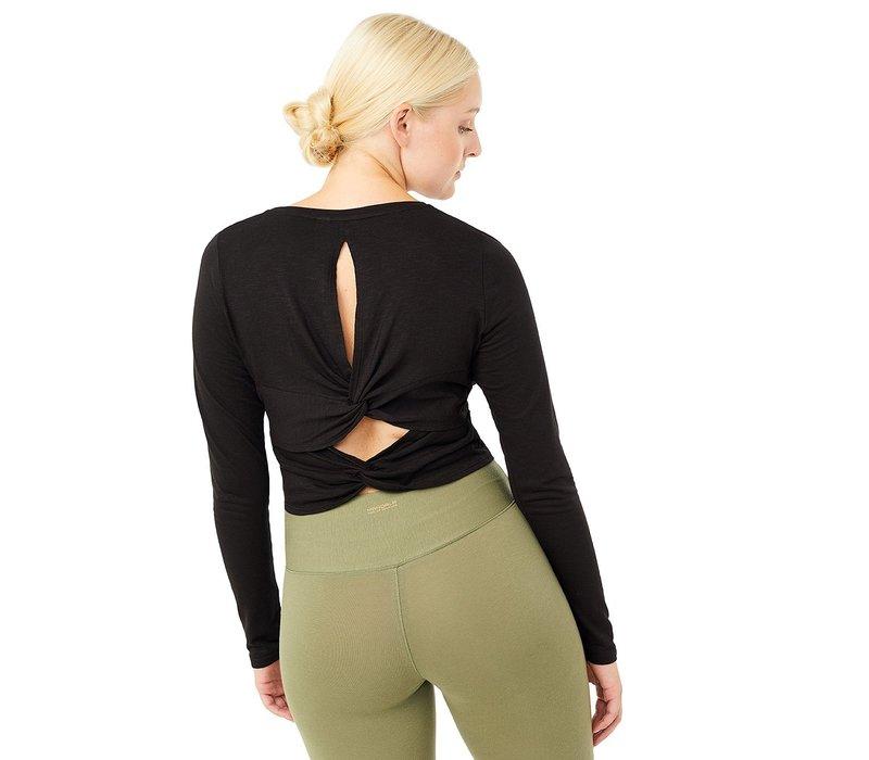Mandala Cross Back Shirt - Black