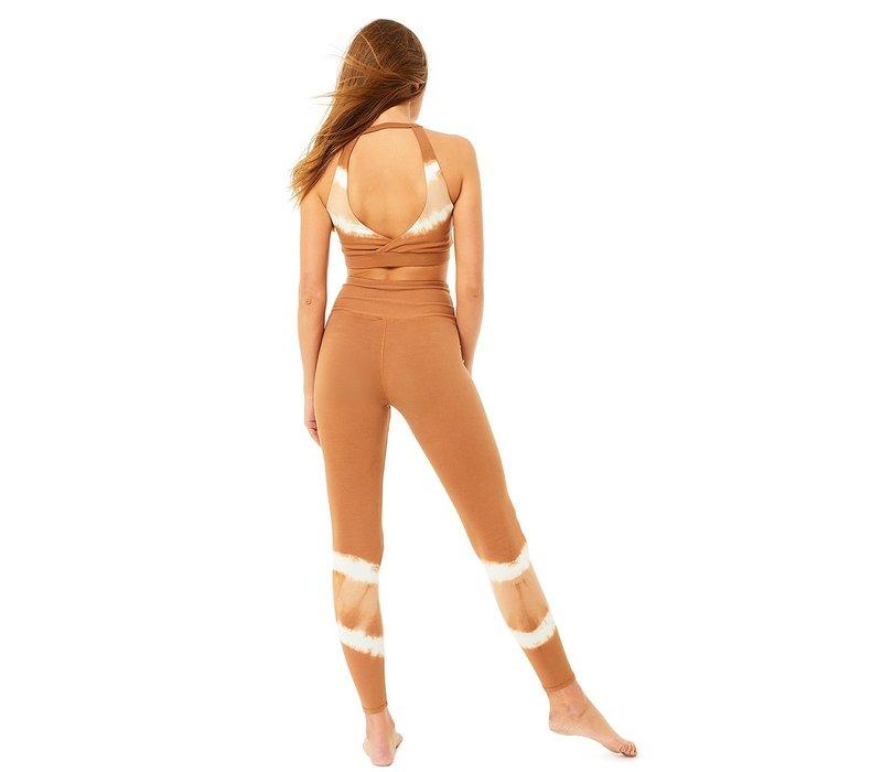Mandala Tie Dye Legging - Biscuit