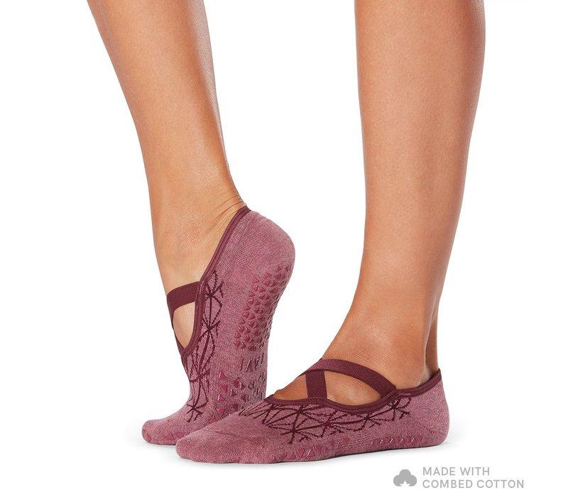 Tavi Noir Grip Socks Chloe - Garnet