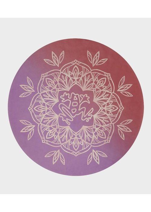 Manduka Manduka eQua Round Yoga Mat - Lily Pad Coral
