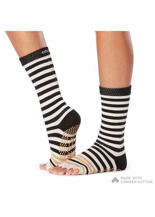 Toesox Toesox Yoga Socks Casual Crew - Modernism