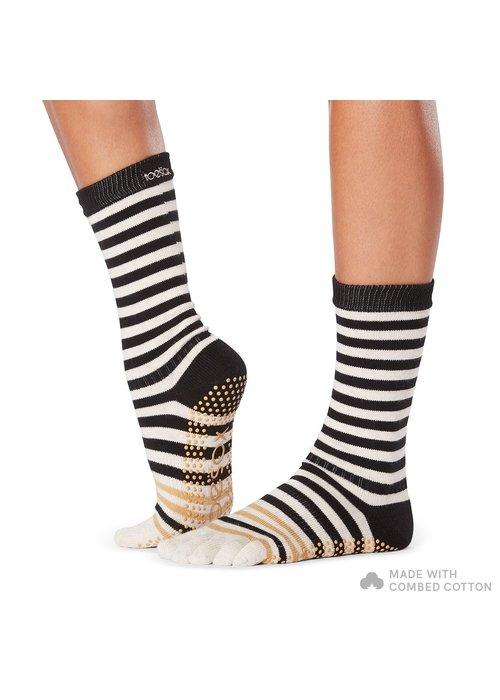 Toesox Toesox Yoga Full Toe Socks Crew - Modernism