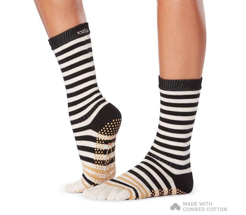 Toesox Yoga Full Toe Socks Crew - Modernism