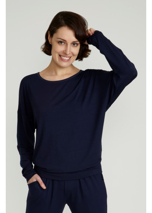 Asquith Asquith Long Sleeve Batwing - Navy/Marine Blue