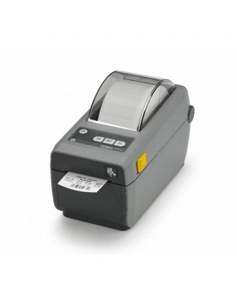 Zebra ZD410 Direct Thermisch 12 dots/mm (203 dpi), USB, Bluetooth (BLE), Kleur donkergrijs - No IOS