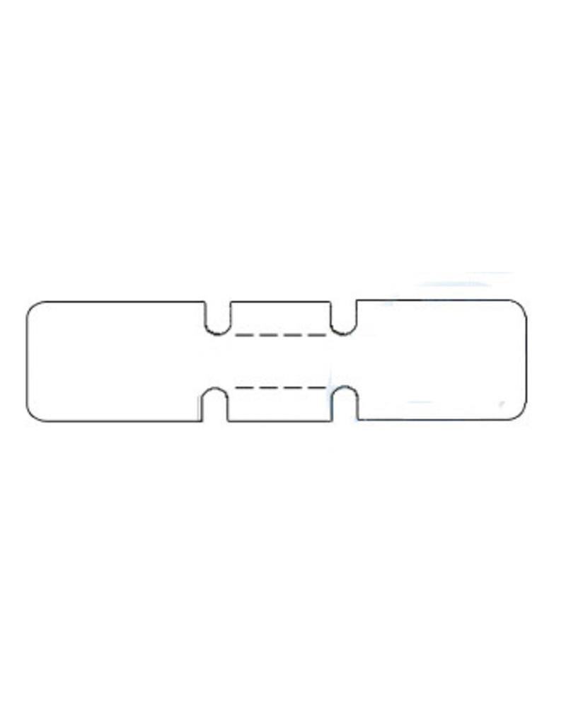 Zebra Juwelierslabels - 56mm x 13mm - K25 - 3510 labels per rol - doos met 6 rollen